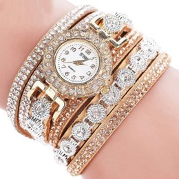 Plastic Wrist Bracelet Watches Australia - New Ladies Watch Round Stainless Steel Bling Rhinestone Bracelet Quartz Wrist Watch