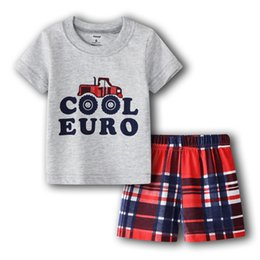 $enCountryForm.capitalKeyWord Australia - Baby Boys Clothes Suit Cool Euro Summer Truck T-Shirts + Shorts 2-Pieces Sets Casual Outfits For Babies Cotton Boy Sets Tops 0-2Years