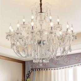 $enCountryForm.capitalKeyWord Australia - White Crystal Chandeliers Modern LED Chandeliers For Living Room Nordic Lamp Wedding Decoration Hanging Light White chandelier Pendant Lamps