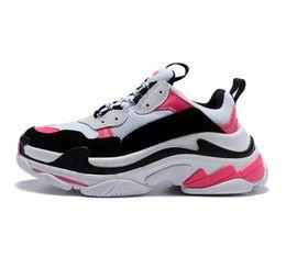$enCountryForm.capitalKeyWord NZ - 2019 Size 3 Fashion Paris Triple-S Sneaker Beige White Black Pink Casual Sports Dad Shoe For Men's Women Hihg Quality Designer leather shoes