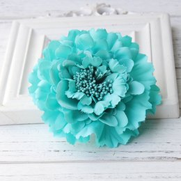 $enCountryForm.capitalKeyWord Australia - Newest style Fabric Blooming peony Flower Corsage Brooch woman Hair Decorations & Brooch wedding party Hair Clip Bridal Wedding