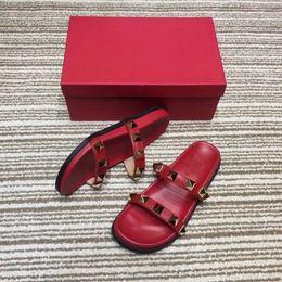 $enCountryForm.capitalKeyWord Australia - free transportation Summer Slipper Rivet Open Toes Platform Sandal Flat Heel Slipper For Womens Beach Shoes Outdoor Shoes female slippers