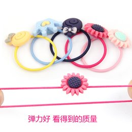 Wholesale ground iron for sale - Group buy Korean Childrens Cartoon Tendons Iron Box Girls Tie Hair Rings Colored Rubber Tendons Grinding