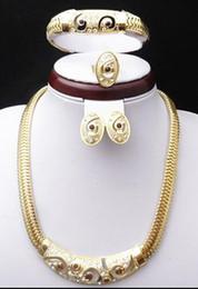 $enCountryForm.capitalKeyWord Australia - 18K Gold Plated Wedding Bridal Jewelry Sets Dubai Gold Plated Accessory Sets 650 African Fashion Costume Jewelry Set