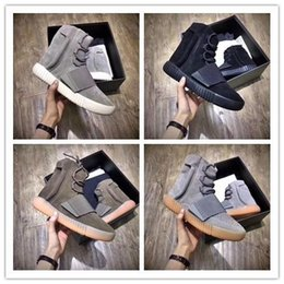 Discount tubular invader strap shoes Tubular Invader Strap 750 Blackout Outdoors Sneaker,Kanye West shoes Hot Selling 750 , Skateboard Shoes,Sneakeheads Shoe