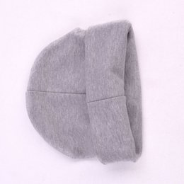 fallen hats Australia - Solid Color Cap Cotton Baby Hat Scarf For Kids Girls Boys Knit Beanie Cute Warm Toddler Children Hats Scarves Winter Fall Spring
