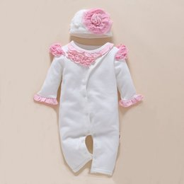 $enCountryForm.capitalKeyWord Australia - Baby Romper photography Hat Floral New Born Girl Clothing 0-3 Month Jumpsuit Spring Winter White Cute Body Suits 2pcs set