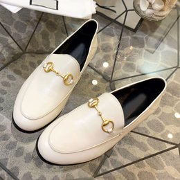 $enCountryForm.capitalKeyWord Australia - High quality two wear leather casual shoes semiflat flat shoes leather metal buckle decorative nonslip sexy street style ladies shoes qi
