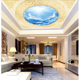 dive housing Australia - 3D custom zenith mural wallpaper photo interior decoration Peace Dove European Classical Living Room Hotel Zenith Ceiling Mural Wallpaper
