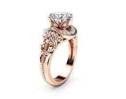 $enCountryForm.capitalKeyWord UK - Zirconium Diamond Rose Gold Vine Flower Ring Ring Ornament