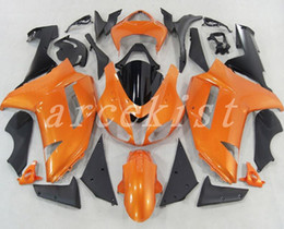 Zx6r Black Orange Australia - New ABS motorcycle Fairings kits fit for kawasaki 07 08 ZX 6R 636 2007 2008 Ninja ZX6R ZX636 600cc fairing set custom orange black