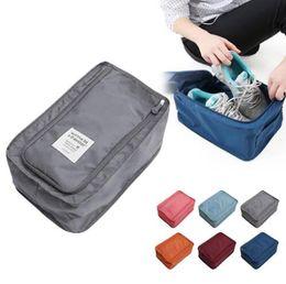 nylon storage boxes 2019 - Travel Storage Bag shoes bags boxes Nylon 6 Colors Portable Organizer Bags Shoe Sorting Pouch Home Storage box GGA1478 c