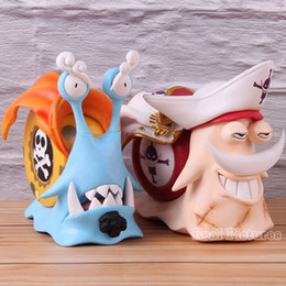 edward figure UK - Anime One Piece Action Model Toy Den Den Mushi Edward Newgate Jinbe Figure One Piece PVC Collectible Statue Jinbe Edward