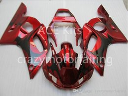 black flame fairing Australia - 3 Free gifts Injection MOLD New ABS Fairing Kits 100% Fitment For YAMAHA YZF-R6 98-02 YZF600 1998 1999 2000 2001 2002 Black Red flame v1