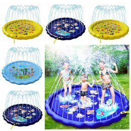 Gonfiabile del bambino Piscina Piscina esterna portatile Kids Pool 170 centimetri Bambini gonfiabile d'acqua a spruzzo rilievo rotondo Acqua Splash Gioca Pool LSK41 in Offerta