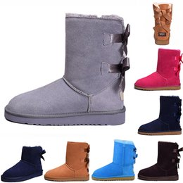football specials 2019 - Special Offer WGG fashion winter boots for women chestnut black blue pink designer snow fur boot womens ankle knee boots
