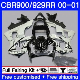 $enCountryForm.capitalKeyWord Australia - Body For HONDA CBR900 RR CBR 929 RR white black glossy CBR 900RR CBR929RR 00 01 279HM.6 CBR 929RR CBR900RR CBR929 RR 2000 2001 Fairings kit