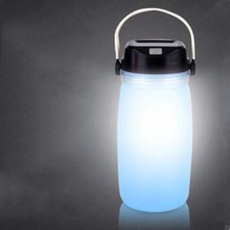 $enCountryForm.capitalKeyWord NZ - LED Water Bottle Solar Charging Luminous portable leak-proof sports bottle outdoor water bottles Creative Sports Kettle Camping light