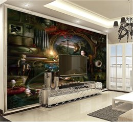 Fantasy girl painting online shopping - Custom Photo Wallpaper d Fantasy Girl Oil Painting Living Room TV Background Bound Wall Painting Wallpaper
