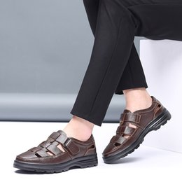 $enCountryForm.capitalKeyWord Australia - Nice Summer Mature Men Sandals Leather Sandals Men Leather Sandals For Men Black Dress Shoes Sandalias Big Size 38-58 May28