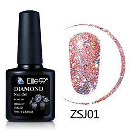 $enCountryForm.capitalKeyWord Australia - 10ml Diamond Color Nail Gel UV LED Gel Polish Shining Glitter Sequins Nail Art Gel Polish Long Lasting Polishes Varnish