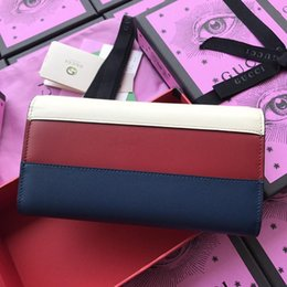 $enCountryForm.capitalKeyWord Australia - 2019 Hot Sales Women Designer Genuine Leather Wallet Famous Brands Bee Purse Ladies Long Leather Wallet Luxury Tri-Color Bag