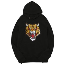 Color Clothes matCh men online shopping - Big Tiger Embroidery Man Hoodise Spring And Autumn Designer Fleece Hoodies Fashion Teenager Couples Matching Clothes
