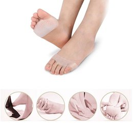 Gel metatarsal pads online shopping - 500pairs Cellular Breathable Soft Silicone Gel Toe Pads High Heel Shock Absorption Metatarsal Foot Pad Forefoot Pad Dropship