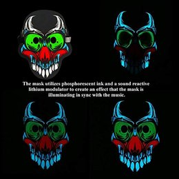 animal face masks Australia - 20styles Voice LED Control Masks Halloween Full Face Dance party Mask Masquerade 3D Animal lighting Masks Halloween Supplies