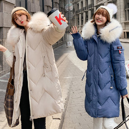 gate style Australia - South Korea East Gate 19 Autumn And Winter Down Dress Female Korean Edition In Long-style Large-collar Loose Cotton Clothes Fat