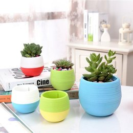 $enCountryForm.capitalKeyWord Australia - 7*7cm Mini Flower Pots Multi Colors Round Plastic Planters Leak Water Hole Design Succulent Plants Garden Pot Hot Sale B