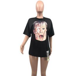 Loose Crew Neck Tshirt Wholesale UK - Designer women T-shirt Short Sleeve Tee Tops Sexy Crew Neck tshirt Print Loose Summer Clothing Pullover plus size S-XL