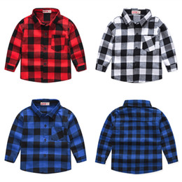Wholesale shirts boys for sale - Group buy Kids Boys Plaid Shirts Toddler Baby Classic Cotton Long Sleeve Tops Kids Casual Clothes Boy Casual Wear Teens Leisure Outfits