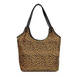 Fashion Leopard Print Tote for Women Casual PU Leather Handbag Simple  Shoulder Top-handle Bag bolsa feminina 2019 New Winter 0b3f10804626a