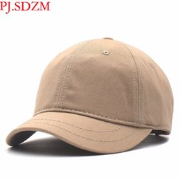 $enCountryForm.capitalKeyWord Australia - Pj.sdzm Wholesale Price 2pcs lot Short Eaves Baseball Men Summer Sunshade Caps Hip Hop Hats Leisure Street Hat Q190417 SH190712