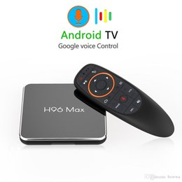 google smart tv box rom Canada - H96 MAX X2 Google Voice Control TV Box Android 9.0 Amlogic S905 X2 4GB DDR4 64GB ROM 2.4G  5G WiFi USB3.0 BT4.0 4K H.265 Smart Media Player