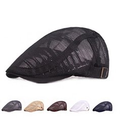 woman summer cloth hats UK - Fashion wild hat men and women mesh cloth cap summer spring and autumn breathable shade art youth beret