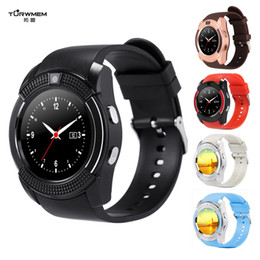 Bluetooth Smart Watch Sim Australia - V8 Bluetooth Smart Watch Anti-lost Sport Smartwatch Touch Screen Wrist Watches with Camera SIM Card Slot Clock DZ09 X6 VS M2 A1