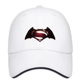 115386e649c1fb 2016 Batman vs Superman original logo bat s29-01 Unisex Mens Hat Womens Caps  Fashion Cotton Snapback Flatbrim Sports Hats Ball Caps for Men