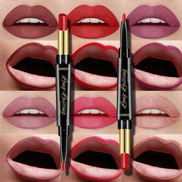 $enCountryForm.capitalKeyWord Australia - 15 Color Lips Makeup Lipstick Sexy Red Lip Matte Long Lasting Lip Pencil Waterproof Stick Liner Double-end Black Matte Lipsticks