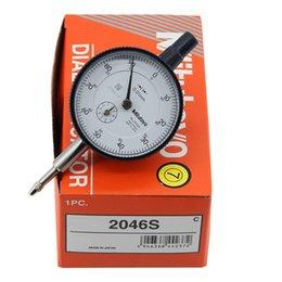 Mitutoyo 2046S Indicateur de cadran standard du piston de 10mm Inspection de test de jauge 10mm en Solde