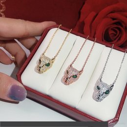 panther chain Australia - s925 silver leopard print Necklace quality Popular high Fashion Party Jewelry For Women Luxurious Panther Wedding Jewelry Leopard Necklace