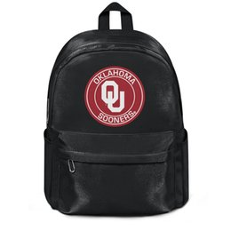 $enCountryForm.capitalKeyWord UK - Oklahoma Sooners Round Logo Fashion sports Wool ,Shoulder backpack, design pop best durable and convenient string Package, suitable for