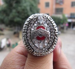 Custom sets online shopping - Drop Shipping Ohio State Buckeyes National Championship ring Custom Championship Ring With Wooden Display Box Fan Men Gift