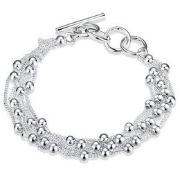 $enCountryForm.capitalKeyWord Australia - Fashionable Bracelets Six-line light beads Silver Plated Bangles 925 Silver Charming Elegant Charm Bracelet Unisex Chirstmas Gifts POTALA101