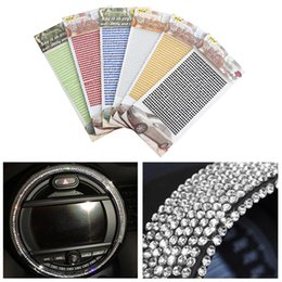 Crystal adhesive stiCker online shopping - 1Sheet mm DIY Colorful Crystal Rhinestone Car Self Adhesive Sticker Vehicle Styling Decorative Decals Automobiles Accessories