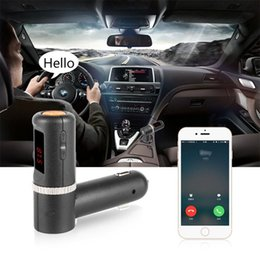 wireless usb port adapter UK - BC08 2.1A*2 4.2A MP3 Player Car kit FM transmitter Bluetooth Handsfree Auto Wireless FM Radio Adapter with 2 Port USB Charger Free Shipping