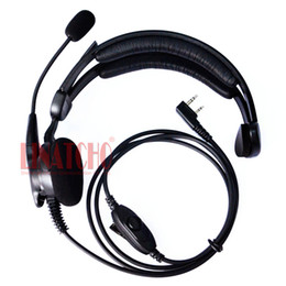 Kenwood tactical headsets online shopping - Comfortable Professional KENWOOD walkie talkie Single side headphone with mic function tactical headset pin conenctor