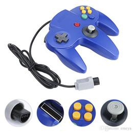 $enCountryForm.capitalKeyWord Australia - Fashion Wired Controller For Nintend N64 Game Wired Gamepad Joypad Joystick Gamecube For N64 64 PC For Mac Game Accessory