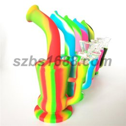 China Dab rig bubbler hookah pipe smoking wholesale pipe teapot shape rig portable tobacco smoking oil unbreakable wax rig with 14mm glass bowl suppliers